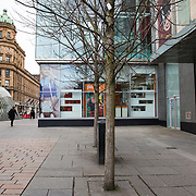 Homeless people sleeping on streets of Glasgow. A homeless person lies sleeping in St Enoch Square.<br /> <br /> Picture Robert Perry 16th March 2017<br /> <br /> Must credit photo to Robert Perry<br /> FEE PAYABLE FOR REPRO USE<br /> FEE PAYABLE FOR ALL INTERNET USE<br /> www.robertperry.co.uk<br /> NB -This image is not to be distributed without the prior consent of the copyright holder.<br /> in using this image you agree to abide by terms and conditions as stated in this caption.<br /> All monies payable to Robert Perry<br /> <br /> (PLEASE DO NOT REMOVE THIS CAPTION)<br /> This image is intended for Editorial use (e.g. news). Any commercial or promotional use requires additional clearance. <br /> Copyright 2014 All rights protected.<br /> first use only<br /> contact details<br /> Robert Perry     <br /> 07702 631 477<br /> robertperryphotos@gmail.com<br /> no internet usage without prior consent.         <br /> Robert Perry reserves the right to pursue unauthorised use of this image . If you violate my intellectual property you may be liable for  damages, loss of income, and profits you derive from the use of this image.