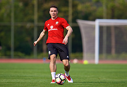 NANNING, CHINA - Wednesday, March 21, 2018: Wales' James Chester during a training session at the Guangxi Sports Centre ahead of the opening 2018 Gree China Cup International Football Championship match against China. (Pic by David Rawcliffe/Propaganda)