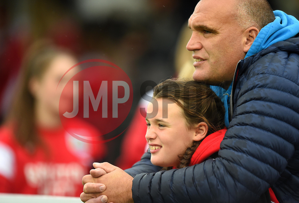 Spectators at Stoke Gifford Stadium for Bristol City Women v Yeovil Town Ladies - Mandatory by-line: Paul Knight/JMP - 30/09/2017 - FOOTBALL - Stoke Gifford Stadium - Bristol, England - Bristol City Women v Yeovil Town Ladies - FA Women's Super League 1