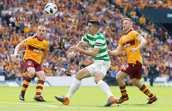 Celtic's Tom Rogic (centre) during the William Hill Scottish Cup Final at Hampden Park, Glasgow.