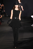 Kate King walks down runway for F2012 Prabal Gurung's collection in Mercedes Benz fashion week in New York on Feb 10, 2012 NYC