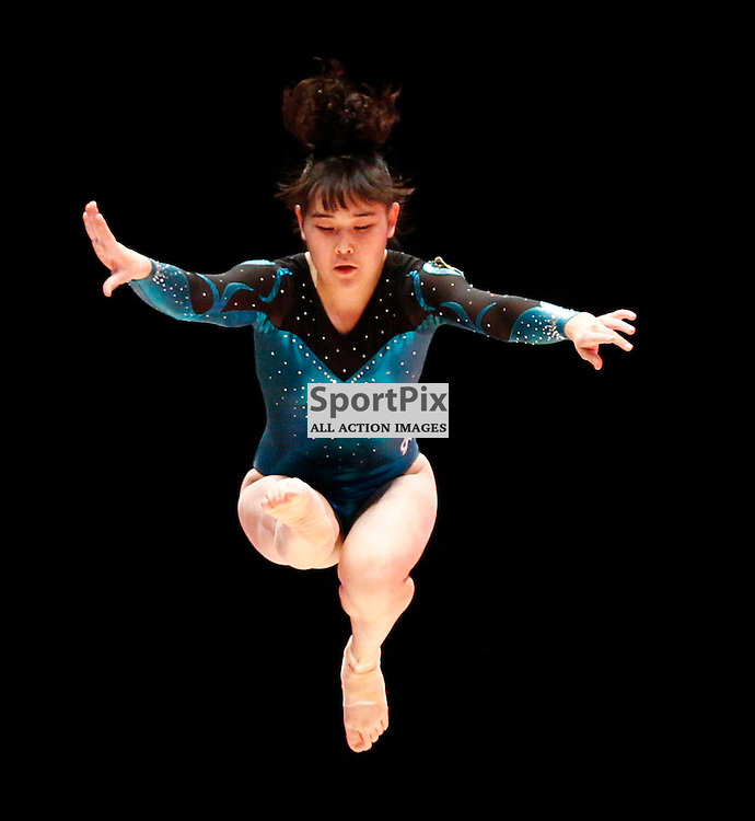 2015 Artistic Gymnastics World Championships being held in Glasgow from 23rd October to 1st November 2015...Zhanerke Duisek (Kazakhstan) competing in the Balance Beam competition...(c) STEPHEN LAWSON | SportPix.org.uk