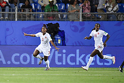 6?10?????????????????????.Kadeisha Buchanan (L) of Canada celebrates after scoring during..???????????????2019?6?11?.?????????——E??????????????.?????????????2019??????????E???????????1?0??????.?????????..(SP)FRANCE-RENNES-2019 FIFA WOMEN'S WORLD CUP-GROUP E-CANADA VS CAMEROON..(190611) -- MONTPELLIER, June 11, 2019  the group E match between Canada and Cameroon at the 2019 FIFA Women's World Cup in Montpellier, France on June 10, 2019. Canada won 1-0. (Credit Image: © Xinhua via ZUMA Wire)