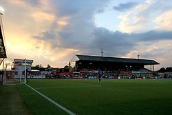 The sun sets over The LCI Rail Stadium - Mandatory by-line: Paul Roberts/JMP - 25/07/2017 - FOOTBALL - LCI Rail Stadium - Cheltenham, England - Cheltenham Town v Bristol City - Pre-season friendly