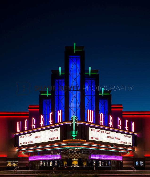8/10/15 8:47:17 PM --  Exterior photos of the Warren Theatre in Broken Arrow, Oklahoma. <br /> <br /> Photo by Shane Bevel