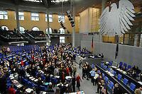 02 FEB 2007, BERLIN/GERMANY:<br /> Plenarsaal mit Bundesadler, waehrend der namentlichen Abstimmung zum GKV-Wettbewerbsstaerkungsgesetz, der sog. Gesundheitsreform, Plenum, Deutscher Bundestag<br /> IMAGE: 20070202-01-075<br /> KEYWORDS: Übersicht, Uebersicht