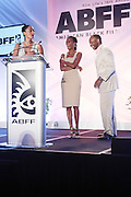 Miami Beach, Florida, NY-June 23: (L-R) Actress Tracey Ellis Ross(Festival Ambassador), Nicole Friday, and Jeff Friday, Founder, The American Black Film Festival attends the 2012 American Black Film Festival Winners Circle Awards Presentation held at the Ritz Carlton Hotel on June 23, 2012 in Miami Beach, Florida. (Photo by Terrence Jennings)
