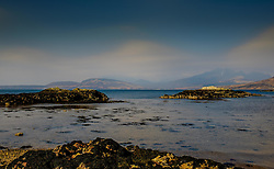 Looking out over Loch Eishort towards the Elgol penisula from the beach at Ord, Isle of Sky, Scotland<br /> <br /> (c) Andrew Wilson | Edinburgh Elite media