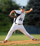 Yardley Morrisville pitcher Sean Maniatis throws a pitch against Newtown in the first inning at Council Rock North High School Tuesday June 30, 2015 in Newtown, Pennsylvania. (Photo by William Thomas Cain)