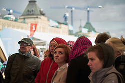 June 3, 2017 - Moscow, Russia - People during The Red Square Book festival, in Moscow, Russia, on June 3, 2017. The Red Square Book is held annually in the main square of Moscow. It lasts 4 days and happens to be visited by main politician leaders. (Credit Image: © Dmitry Ermakov/NurPhoto via ZUMA Press)