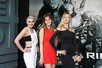 Emily Garner; Sophie Ellson; Naomi Pelkiewicz; Britain & Ireland's Next Top Model, Pacific Rim European Film Premiere, BFI IMAX Waterloo, London UK, 04 July 2013, (Photo by Richard Goldschmidt)