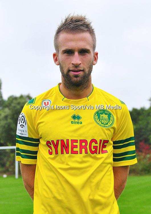 Lucas DEAUX - 17.09.2013 - Photo Officielle - Nantes -Ligue 1<br /> Photo : Philippe Le Brech / Icon Sport