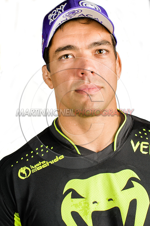 "MANCHESTER, ENGLAND, NOVEMBER 23, 2013: Mixed martial arts athlete Lyoto Machida poses for a portrait following the media open work-out sessions for ""UFC Fight Night 30: Machida vs. Munoz"" inside Bierkeller Shooter's Sports Bar in The Printworks, Manchester (Martin McNeil for ESPN)"