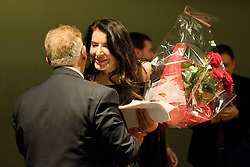 Marina Abramocic attend the Florence Biennal to receive the career award; Marina Abramovic riceve il premio alla carriera alla Biennale di arte contemporanea di Firenze