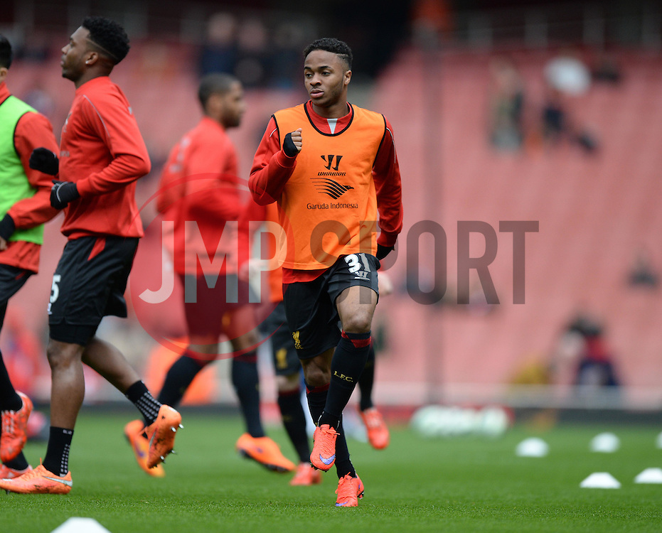 Raheem Sterling of Liverpool - Photo mandatory by-line: Alex James/JMP - Mobile: 07966 386802 - 04/04/2015 - SPORT - Football - London - Emirates Stadium - Arsenal v Liverpool - Barclays Premier League