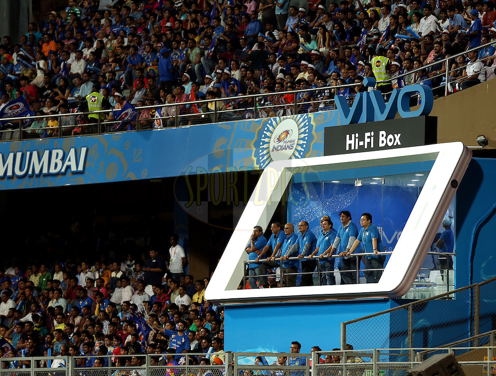 VIVO VIP Box during match 1 of the Vivo Indian Premier League ( IPL ) 2016 between the Mumbai Indians and the Rising Pune Supergiants held at the Wankhede Stadium in Mumbai on the 9th April 2016<br /> <br /> Photo by Sandeep Shetty/ IPL/ SPORTZPICS