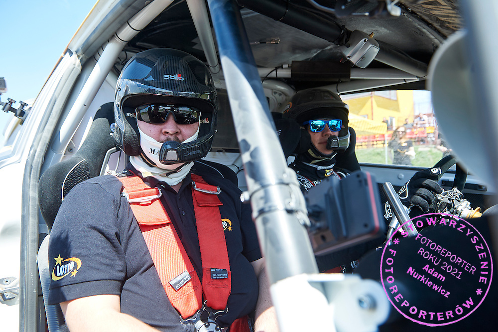 (R) Martin Kaczmarski from Poland drives his car rally cross RX Lites during training session on rally cross track on May 19, 2015 in Slomczyn, Poland<br /> <br /> Poland, Slomczyn, May 19, 2015<br /> <br /> Picture also available in RAW (NEF) or TIFF format on special request.<br /> <br /> For editorial use only. Any commercial or promotional use requires permission.<br /> <br /> Adam Nurkiewicz declares that he has no rights to the image of people at the photographs of his authorship.<br /> <br /> Mandatory credit:<br /> Photo by &copy; Adam Nurkiewicz / Mediasport