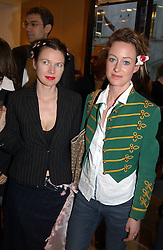 """Left to right, PIP HACKETT and LORIEN HAYNES at a book signing hosted by Tod's for Dante Ferretti's new book 'The Art of Production Design"""" held at the Tod's store, 2/3 Old Bond Street, London on 19th April 2005.<br /><br />NON EXCLUSIVE - WORLD RIGHTS"""