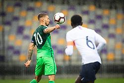 Jan Mlakar of Slovenia  during friendly Football match between U21 national teams of Slovenia and France, on September 8, 2019 in Ljudski Vrt, Maribor, Slovenia. Photo by Blaž Weindorfer / Sportida