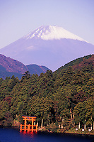 Lake Ashi, Fuji-san (Mt. Fuji) in background, Hakone, Japan