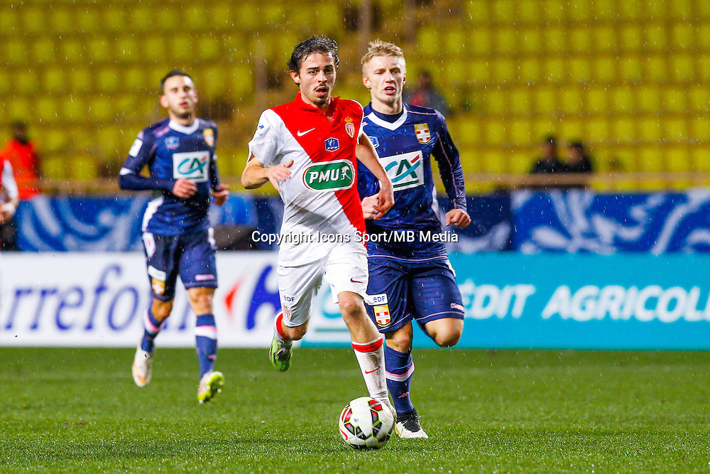Bernardo Silva / Daniel Wass  - 21.01.2015 - Monaco / Evian Thonon   - Coupe de France 2014/2015<br /> Photo : Sebastien Nogier / Icon Sport