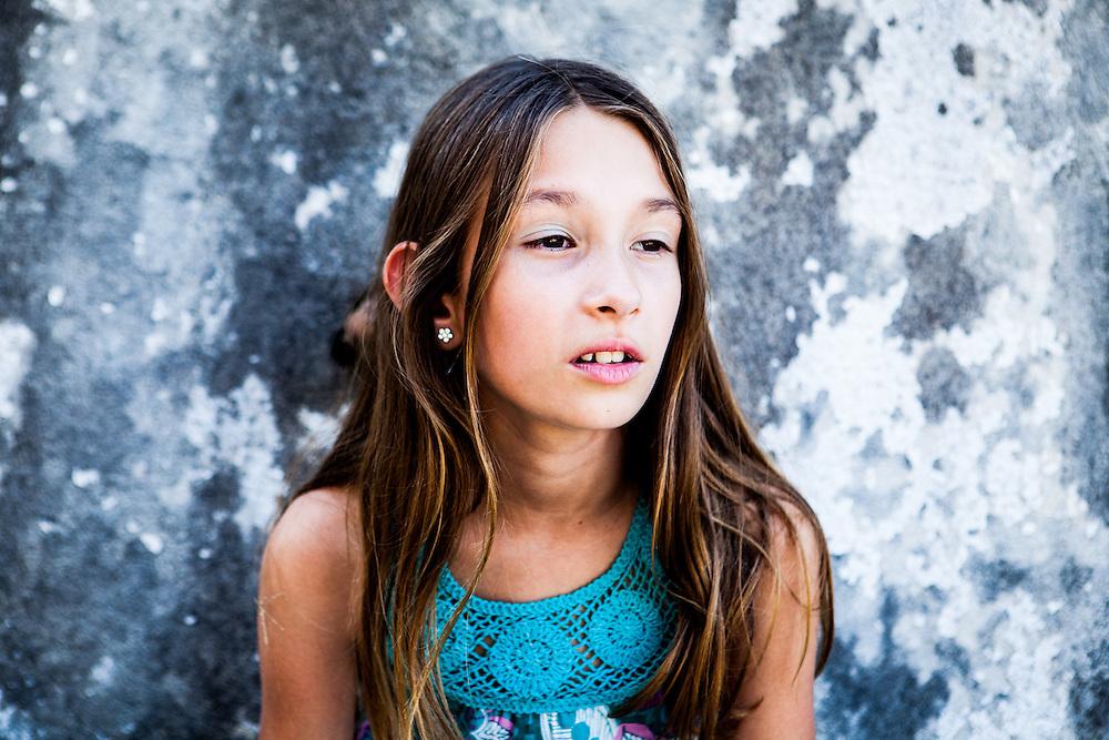 Children, Portrait, reportage style, France, Gers