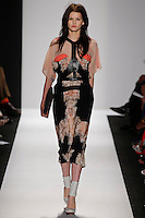 Katlin Aas.walks the runway wearing BCBG during Mercedes-Benz Fashion Week in New York City on September 6, 2012