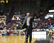 "The student section was virtually empty as Ole Miss head basketball coach Andy Kennedy yells instructions at the C.M. ""Tad"" Smith Coliseum in Oxford, Miss. on Saturday, February 25, 2012."
