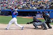 March 18, 2018 - Las Vegas, NV, U.S. - LAS VEGAS, NV - MARCH 18: Erick Castillo (94) of the Cubs swings during a game between the Chicago Cubs and Cleveland Indians as part of Big League Weekend on March 18, 2018 at Cashman Field in Las Vegas, Nevada. (Photo by Jeff Speer/Icon Sportswire) (Credit Image: © Jeff Speer/Icon SMI via ZUMA Press)