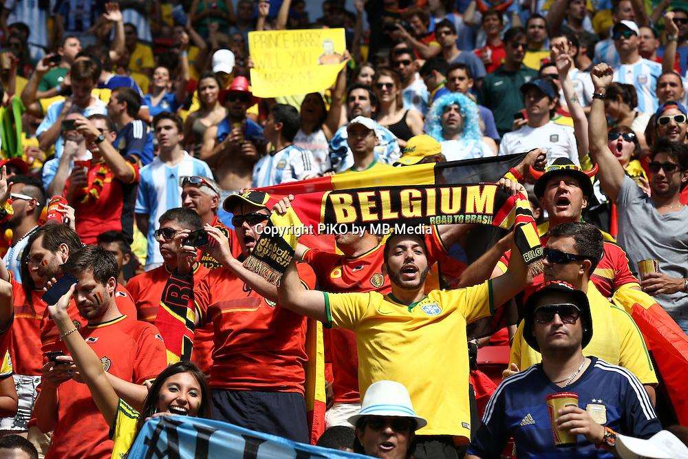 Fifa Soccer World Cup - Brazil 2014 - <br /> ARGENTINA (ARG) Vs. BELGIUM (BEL) - Quarter-finals - Estadio Nacional Brasilia -- Brazil (BRA) - 05 July 2014 <br /> Here Belgian supporters.<br /> &copy; PikoPress