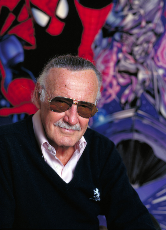 Stan Lee, Founder & Creator of Marvel Comics photographed for an editorial client at his offices in Los Angeles, CA