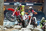 Kyle Redmond takes an early lead in Heat#1 of at Endurocross Las Vegas, NV.