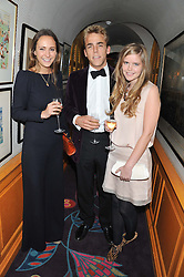 Left to right, LAVINIA BRENNAN, WILL WELLS and KATIE READMAN at a party to celebrate the publication of Tatler Magazine's Little Black Book 2012 held at Annabel's, Berkeley Square, London on 7th November 2012.