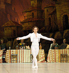 Laurencia, The Mikhailovsky Ballet, London Coliseum, London, Great Britain..Act 2..Ivan Vasiliev as Frondoso, April 2, 2013. Photo by Elliott Franks / i-Images...Contact..Andrew Parsons: 00447545 311662.Stephen Lock: 00447860204379