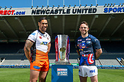 Picture by Allan McKenzie/SWpix.com - 14/05/2018 - Rugby League - Dacia Magic Weekend 2018 Preview - St James Park, Newcastle, England - Castleford's Jesse Sene-Lefao & Leeds' Richie Myler.