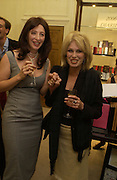 ' Kate Westbrook' and Joanna Lumley. The Moneypenny diaries book launch. Smythson, 40 New Bond St. London.  4 October 2005. . ONE TIME USE ONLY - DO NOT ARCHIVE © Copyright Photograph by Dafydd Jones 66 Stockwell Park Rd. London SW9 0DA Tel 020 7733 0108 www.dafjones.com
