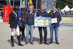 Greve Willem, (NED), Formidable with breeder <br /> Final 5 years old horses<br /> FEI World Breeding Jumping Championship <br /> Lanaken - Zangersheide 2015<br /> © Hippo Foto - Dirk Caremans<br /> 20/09/15
