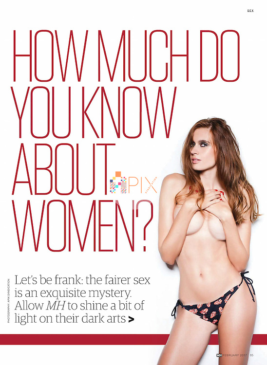 How much do you know about women?  Foxy Florenta helps you work it out in the February issue of Men's Health magazine, Australia.<br />