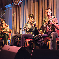 Musicians from the counties of Monaghan and Fermanagh playing traditional music during the Launch of their CD 'Our Dear Dark Mountain' at the Old Ground Hotel during the Ennis Trad Festival 2014