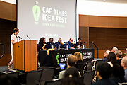 "Panelists on ""Moving past the fear — How to talk about race in all of your spaces"" speak during the Cap Times 2017 Idea Fest, Saturday, September 16, 2017"