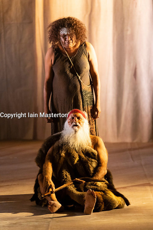 Edinburgh, Scotland, UK. 2 August 2019. Preview performance of extracts from the play The Secret River by Sydney Theatre Company at the King's Theatre . Adapted from the novel by Kate Grenville, this multi award winning stage drama charts the story of two families divided by culture and land. Iain Masterton/Alamy Live News