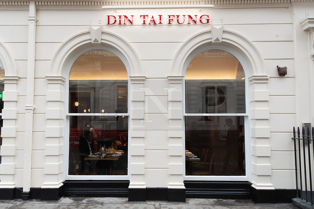 © Licensed to London News Pictures. 05/12/2018. London, UK. Exterior of Taiwanese restaurant Din Tai Fung in Covent Garden. Photo credit: Ray Tang/LNP