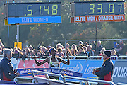 Triunes Dibaba (ETH) wins the Elite Women 10 mile at The Great South Run in Southsea, Portsmouth, United Kingdom on 23 October 2016. Photo by Jon Bromley.