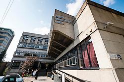 Exterior of Queen Margaret Union , student union on campus of Glasgow university in Scotland, united Kingdom