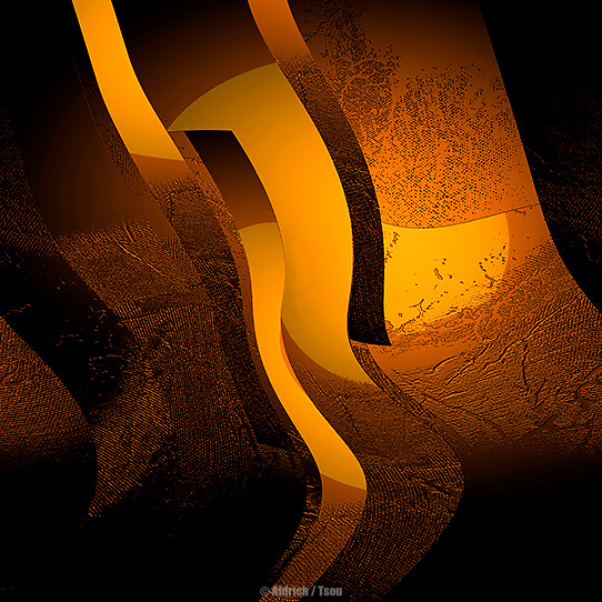 Abstract Photo-Painting: Original abstract painting layered with photographic elements