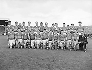 The Kerry team before the All Ireland Senior Gaelic Football Final Kerry v Dublin in Croke Park on the 25th September 1955. Kerry 00-12 Dublin 01-06.<br />