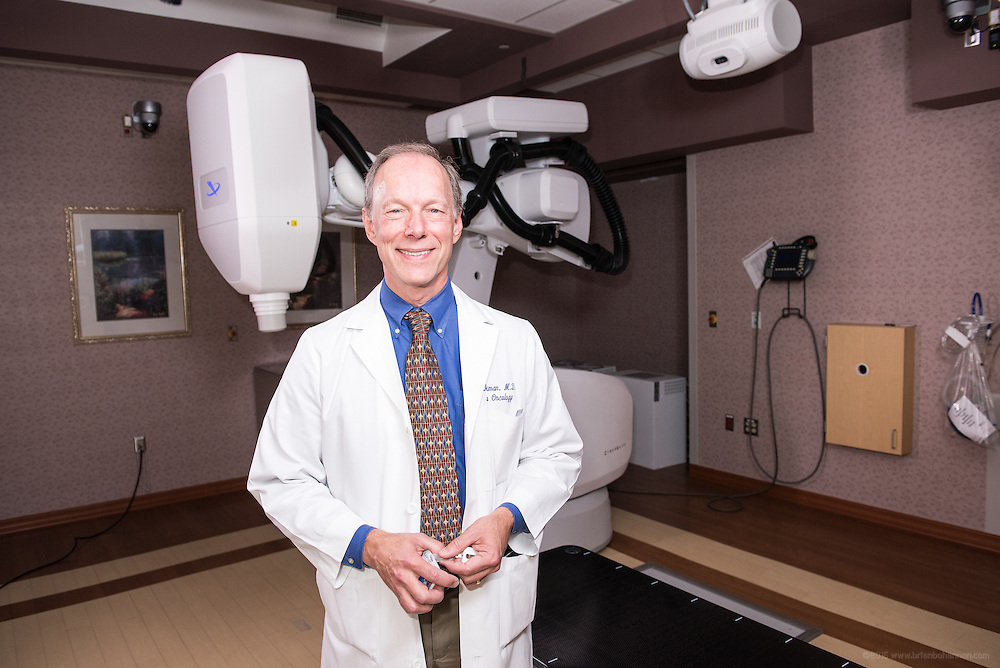 Radiation Oncologist Alan Beckman, MD, photographed Thursday, May 21, 2015 at Baptist Health in Lexington, Ky. (Photo by Brian Bohannon/Videobred for Baptist Health)