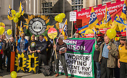 24 Sept 2015 - Celebrating 100 days of strike action at the National Gallery.