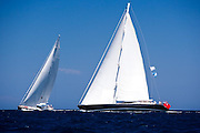 Nashira II and Ganesha sailing in the Dubois Cup regatta, day 1.