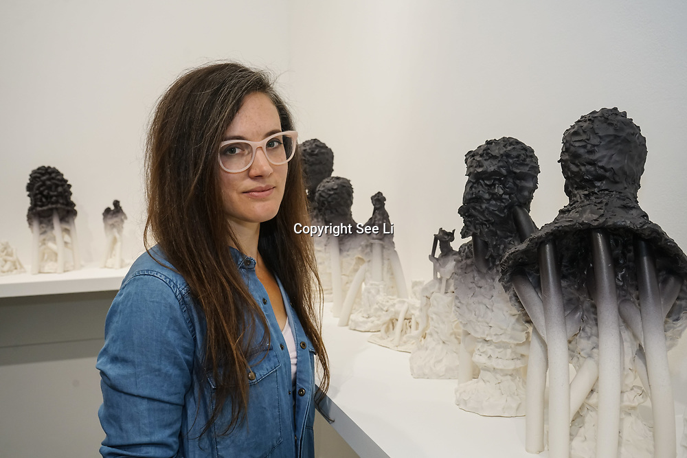 London, UK. 26th June 2017. Artist Jessica Harrison - 54 pins, 44 followers PHOTOCALL at Jerwood Makers Open 2017 for  the sixth edition of Jerwood Makers Open at Jerwood Space, London.